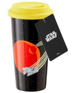 Star Wars - Travel mug en plastique Millenium Falcon