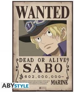 One Piece - poster Wanted Sabo