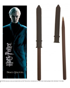 Harry Potter - Stylo baguette + marque-page Draco Malfoy