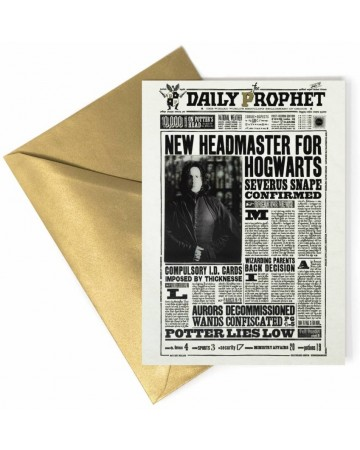 Harry Potter - Carte de voeux lenticulaire Snape New Headmaster