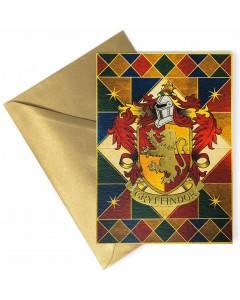 Harry Potter - Carte de voeux métallisée Gryffindor