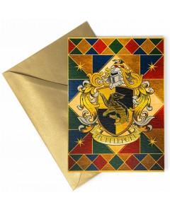 Harry Potter - Carte de voeux métallisée Hufflepuff