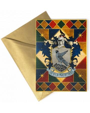 Harry Potter - Carte de voeux métallisée Ravenclaw