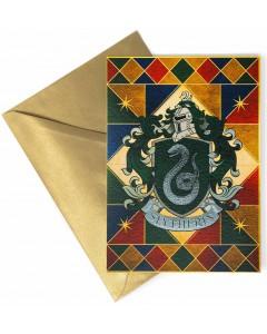 Harry Potter - Carte de voeux métallisée Slytherin