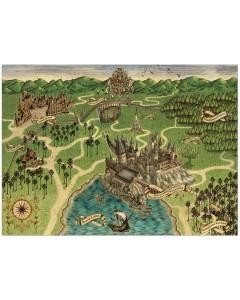 Harry Potter - Poster Map of Hogwarts 50 x 69 cm