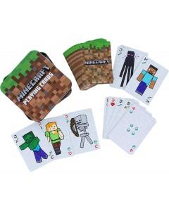 Minecraft - Jeu de cartes en boîte métallique