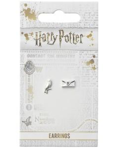 Harry Potter - Boucles d'oreilles Hedwige & Lettre
