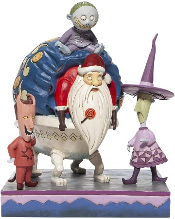 """Nightmare Before Christmas - Traditions - Lock, Shock & Barrel w/Santa """"Bagged and Delivered"""""""