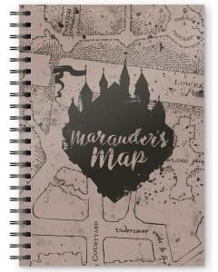 Harry Potter - Carnet A5 spirales Marauder's Map
