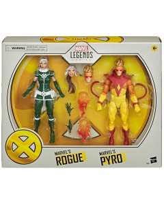 Marvel Legends - Figurines Pyro & Rogue (X-Men)