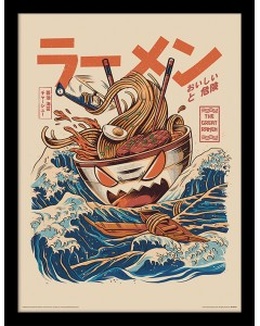 Illustrata - Poster encadré The Great Ramen (30 x 40 cm)