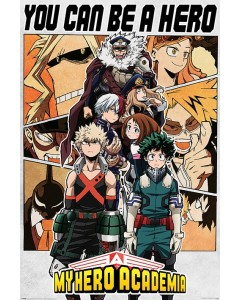 My Hero Academia - grand poster Be a Hero (61 x 91,5 cm)