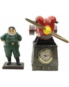 Porco Rosso - Figurine diorama Horloge Hydravion Savoia S.21 avec Marco