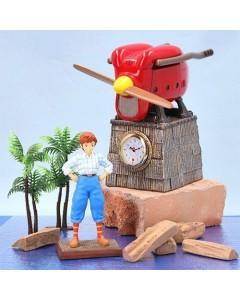 Porco Rosso - Figurine diorama Horloge Hydravion avec Fio Piccolo