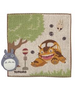Mon voisin Totoro - Serviette Chatbus Arrêt de Bus 25 x 25 cm