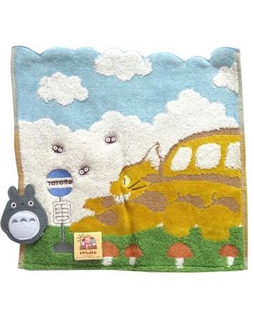Mon voisin Totoro - Serviette Chatbus en chemin 25 x 25 cm