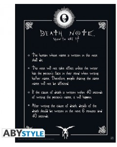 Death Note - poster Rules