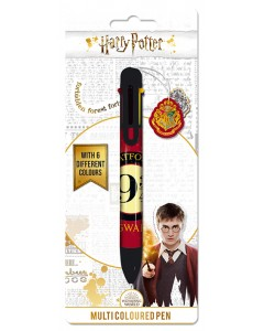 Harry Potter - Stylo bille 8 couleurs Platform 9 3/4