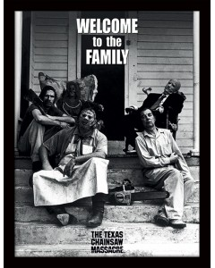 Texas Chainsaw Massacre - poster encadré Welcome to the Family (30 x 40 cm)