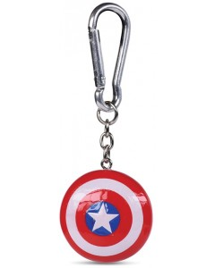 Marvel - Porte-clé mousqueton 3D Captain America Shield
