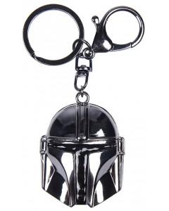 Star Wars : The Mandalorian - Porte-clé métal Mando Helmet