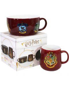Harry Potter - Set petit déjeuner Hogwarts (bol et mug)