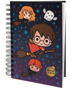 Harry Potter - Carnet A5 lumineux Chibi