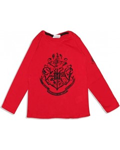 Harry Potter - T-Shirt Hogwarts Rouge - Enfant