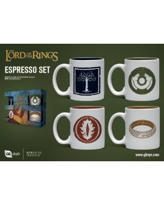 Lord of the Rings - Set de 4 tasses espresso