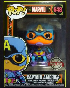Marvel Pop! - Black Light Captain America exclusive n°648