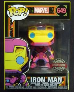 Marvel Pop! - Black Light Iron Man exclusive n°649