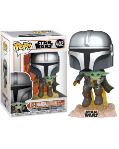 Star Wars : The Mandalorian - Pop! - Mando Jetpack w/ The Child n°402