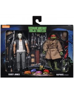 Tortues Ninja - TMNT - Pack 2 figurines Raphael & Casey Jones in Disguise