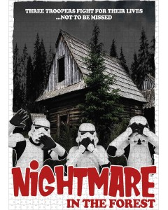 Star Wars - Puzzle 1000 pièces Troopers Nightmare in the Forest