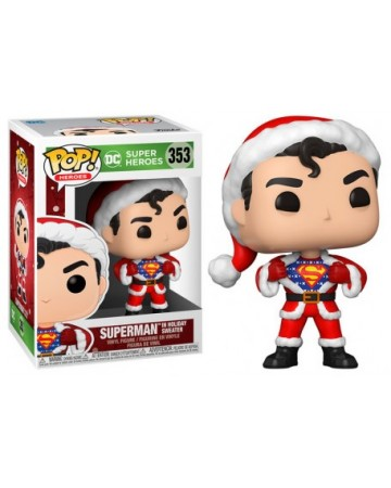 DC Comics - Pop! - Xmas Holiday Superman in Sweater n°353