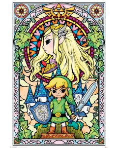 Legend of Zelda - Grand poster Vitraux (61 x 91,5 cm)