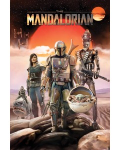 Star Wars : The Mandalorian - grand poster Groupe (61 x 91,5 cm)
