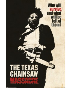 Texas Chainsaw Massacre - grand poster Who Will Survive? (61 x 91,5 cm)