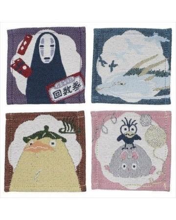Spirited Away (Chihiro) - Assortiment de 4 sous-verres en tissu