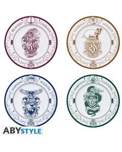Harry Potter - Set de 4 assiettes Emblèmes