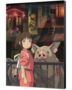 Spirited Away (Chihiro) - poster en bois digigraphie 35 x 50 cm