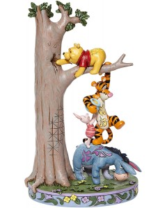 """Disney - Traditions - Tree with Pooh and friends """"Hundred Acre Caper"""""""