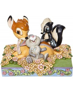 """Disney - Traditions - Bambi and Friends in Flowers """"Childhood Friends"""""""