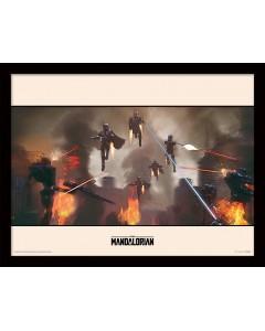 Star Wars : The Mandalorian - poster encadré Assemble (30 x 40 cm)