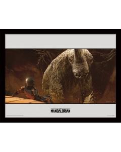 Star Wars : The Mandalorian - poster encadré Rescue (30 x 40 cm)
