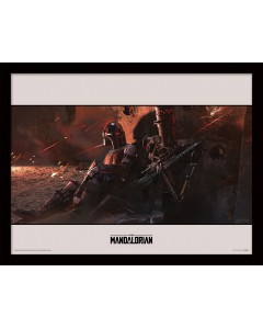 Star Wars : The Mandalorian - poster encadré Cover (30 x 40 cm)