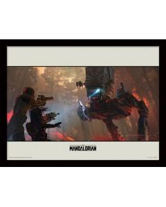Star Wars : The Mandalorian - poster encadré Walker (30 x 40 cm)