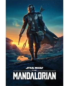 Star Wars : The Mandalorian - grand poster Nightfall (61 x 91,5 cm)