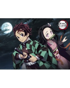 Demon Slayer - Poster Tanjiro & Nezuko 52 x 38 cm