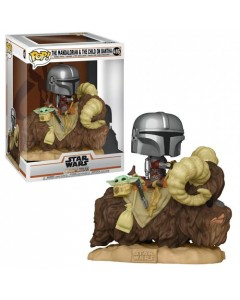 Star Wars : The Mandalorian - Pop! - Mando & The Child on Bantha n°416